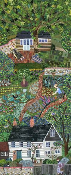 Amanda White, garden, veggie patch, house