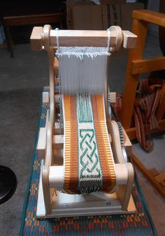 Inkle pick-up on my new-to-me Gilmore Mini-Wave loom.