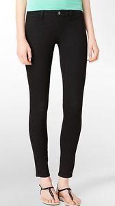 Calvin Klein Black Luxurious Skinny Jeans Women's Stretch Size 2 x 30 New | eBay