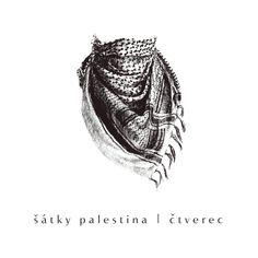 šátky na krk palestina čtvecové třásně