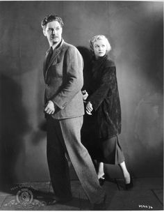 """Robert Donat and Madeleine Carroll in """"The 39 Steps"""""""