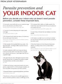 Client handout: Parasite prevention for the indoor-only cat