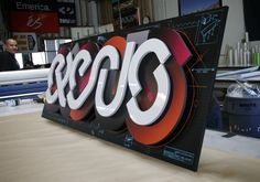 Multi Layered Colorful Sign for Office