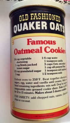 Oatmeal Cookie Recipes, Easy Cookie Recipes, Cookie Desserts, Sweet Recipes, Baking Recipes, Quaker Oatmeal Raisin Cookies, Quaker Oats Recipes, Gourmet