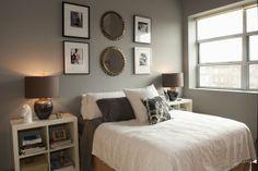 Casey's Modern Minneapolis Bachelor Pad Inspiration Ikea, Bedroom Inspiration, Bedroom Colors, Bedroom Decor, Interior Exterior, Interior Design, Kallax Regal, Small Entry, White Bedroom