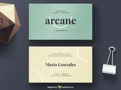 Minimal Yellow And Green Business Card