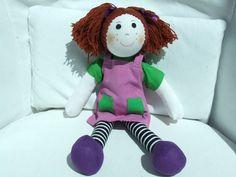 "Cuddly 12"" Rag Doll - Auburn Haired Girl Rag Dolls, Auburn, Stuffed Animals, Snoopy, Construction, Character, Fabric Dolls, Building, Cloth Art Dolls"