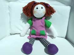 "Cuddly 12"" Rag Doll - Auburn Haired Girl"