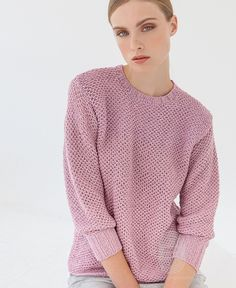 """Люди вяжут: Вяжем: Пуловер. """"Пуловер, связанный сетчатым узором"""" с подробной инструкцией на сайте peopleknit.ru."""