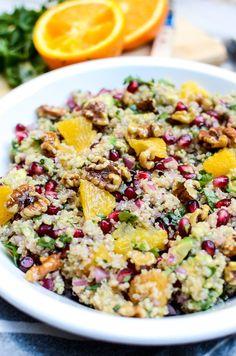 Citrus Avocado Quinoa Salad with Honey Walnuts | www.theeverykitchen.com