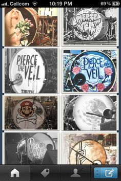 The many drums of Mr. Mike Fuentes (: And I can think of 5 more that's not in this picture..