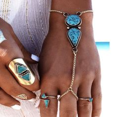 Awesome Hot Sale New Arrival Stylish Shiny Gift Great Deal Turquoise Bohemia Beach Vintage Accessory Bracelet [11604665871]