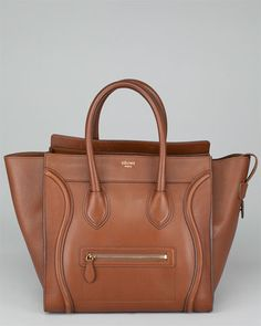 Celine Camel Palmelatto Leather Mini Luggage Bag