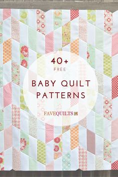 Free baby quilt patterns - good to have on hand Quilt Baby, Baby Girl Quilts, Girls Quilts, Baby Quilts Easy, Quilted Baby Blanket, Quilting Tutorials, Quilting Projects, Quilting Designs, Quilting Patterns