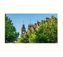 View to the Shamrock Hotel and the Old Town Hall - Bendigo, Victoria Art Print