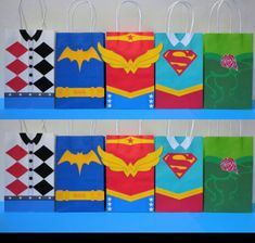 Instant Download DC SuperHero Girls Favor Bags - DC Super Hero Girls Birthday Party/ Goody/ Goodie/ Treat Bags- DC Superhero Girls Favors