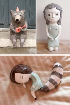 nathalie-choux- I'm in love with the bear and the girl sleeping-so cute