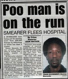 "Oh CRAP! ""Poo man"" is on the run!"