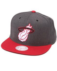 e07e602e829 Miami Heat NBA HWC   Current Dark Heather 2 Tone Snapback Hat by Mitchell   amp