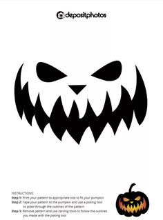 25 Free Pumpkin Carving Stencils From Depositphotos Scary Pumpkin Carving Patterns, Pumpkin Carving Stencils Free, Halloween Stencils