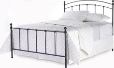 Wrought iron king size bed frame. Same frame that we have in a full-sized frame.