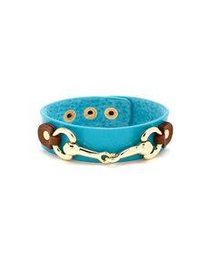 Signature Leather Bracelet Turquoise