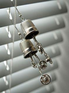 Tailor's Dream Earrings by weggart, via Flickr