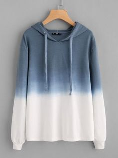 To find out about the Ombre Drop Shoulder Drawstring Hoodie at SHEIN, part of our latest Sweatshirts ready to shop online today! Hoodie Outfit, Girls Fashion Clothes, Fashion Outfits, Clothes For Women, Fashion Ideas, Fashion 2017, Stylish Hoodies, Mode Hijab, Trendy Fashion