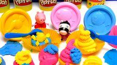 Play-Doh Peppa Pig Cupcake Dough Toys Video
