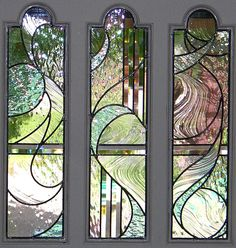 stained glass front entry door with side panels | Kelley Studios Stained Glass Doors I