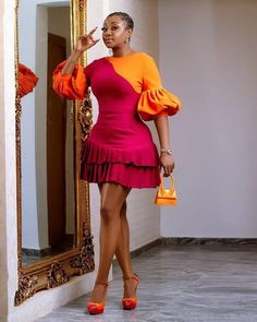 Latest African Fashion Dresses, African Print Dresses, African Dresses For Women, African Print Fashion, African Attire, Women's Fashion Dresses, Fashion Prints, Classy Dress, Classy Outfits