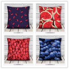 Fashion Home Decor Comfortable Creative 3D Art Printed Fruit Pillowcase Decorative Cushion Throw Pillows Gift