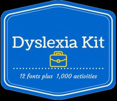 Looking for a dyslexia toolkit for either parents, teachers or parents? Look no further, you are in the right place. Downhill Publishing LLC has done again. Special Education Teacher, Kids Education, Friends Font, Reading Specialist, Thing 1, Learning Disabilities, Thinking Skills, Dyslexia, Kids Reading