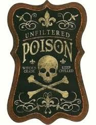 Image result for wednesday addams poison bottle label