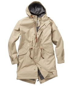 Mens Aigle Fishertail MTD Parka Jacket - Sahara