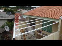 DIY - Como Instalar Cobertura de Policarbonato Fixa Alveolar Cristal 10 mm - Lavanderia Parte II - YouTube