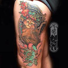 Persian cat by Guen Douglas | crazy cat lady | Cat tattoo designs ...