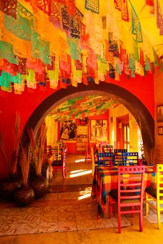 restaurant in Cabo San Jose Mexico. digging the colors and lighting