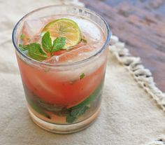 Watermelon and Tequila Mojito