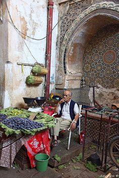 market vendor, Fez, Morocco