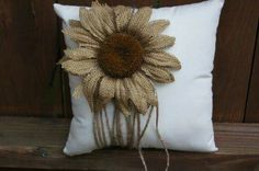 Your place to buy and sell all things handmade Sunflower Flower, Sunflower Pattern, Burlap Projects, Burlap Crafts, Burlap Flowers, Fabric Flowers, One Balloon, Fabric Flower Brooch, Muslin Fabric