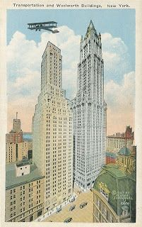 Sharing my vast collection of roughly 2400 vintage postcards. Montezuma Castle National Monument, New York City Buildings, Woolworth Building, York Hotels, Episcopal Church, Down South, Vintage Postcards, Vintage Travel, Cemetery