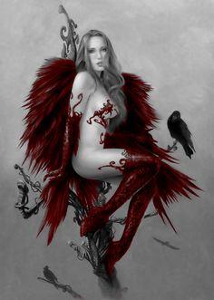 Ange rouge by Ponthieu.deviantart.com on @deviantART