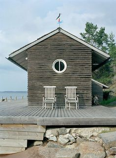 🌟Tante S!fr@ loves this📌🌟In deze beach shacks wil je direct wonen — Ocean Days Cottages By The Sea, Cabins And Cottages, Beach Cottages, Beach Houses, Cottage Living, Coastal Living, Haus Am See, House By The Sea, Beach Shack