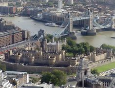 Tower of London & Tower Bridge on the River Thames, London, England