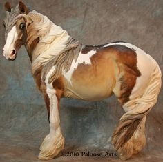 Beautiful painted horse at paloosearts.com