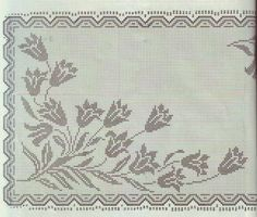 Kira scheme crochet: Scheme crochet no. Filet Crochet Charts, Crochet Motif, Crochet Designs, Crochet Doilies, Crochet Stitches, Cross Stitch Patterns, Knitting Patterns, Crochet Patterns, Crochet Tablecloth