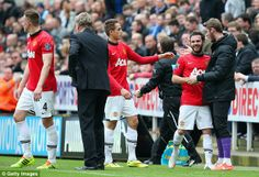 Newcastle United 0 Manchester United 4: Juan Mata celebrated after the first of his two goals with compatriot David de Gea, who was rested for this game.