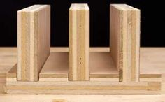 For the optimum joint strength, a dado's width must be just a few thousandths greater than the thickness of the mating piece. The dado on the left is obviously too wide, the center dado acceptable (though just a skoshe wide), while that on the right is dead on.