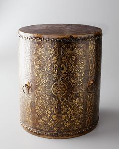 Vintage Asian Drum, Gold at Neiman Marcus